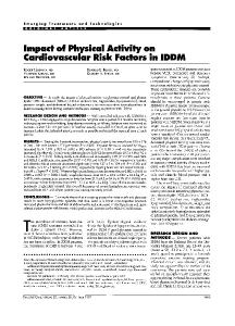 Impact of Physical Activity on Cardiovascular Risk ... - Diabetes Care