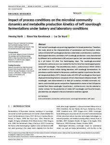 Impact of process conditions on the microbial ...