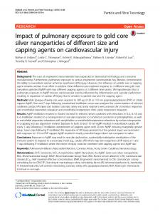 Impact of pulmonary exposure to gold core silver nanoparticles of ...