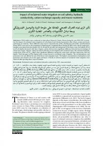 Impact of reclaimed water irrigation on soil salinity ...