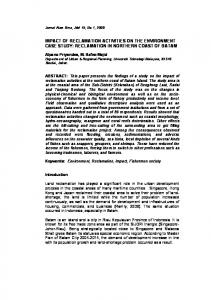 impact of reclamation activities on the environment case study - Core