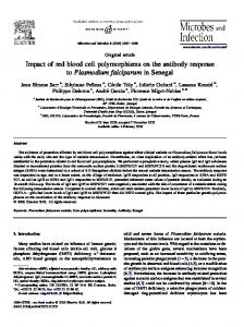 Impact of red blood cell polymorphisms on the antibody ... - CiteSeerX