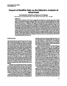 Impact of Satellite Data on the Objective Analysis of Wind Field