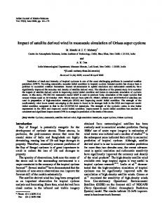 Impact of satellite derived wind in mesoscale simulation of ... - NOPR