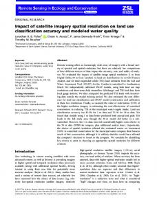 Impact of satellite imagery spatial resolution on ... - Wiley Online Library