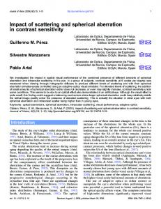 Impact of scattering and spherical aberration in ... - Semantic Scholar