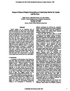 Impact of Search Engine Ownership on Underlying Market for Goods ...
