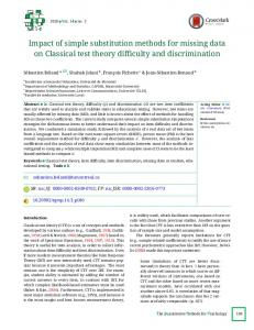 Impact of simple substitution methods for missing data on Classical