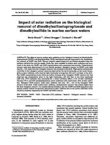 Impact of solar radiation on the biological removal of ...