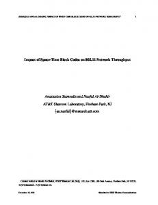 Impact of Space-Time Block Codes on 802.11 Network ... - CiteSeerX