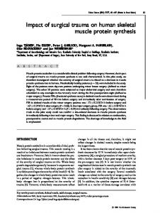 Impact of surgical trauma on human skeletal muscle protein synthesis
