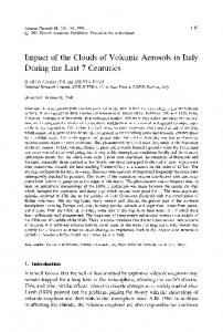 Impact of the clouds of volcanic aerosols in Italy