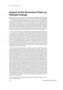 Impact of the Economic Crisis on Climate Change - Springer Link