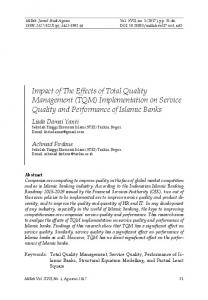 Impact of The Effects of Total Quality Management ...