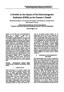 impact of the Electromagnetic radiation on the health human