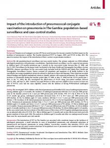 Impact of the introduction of pneumococcal conjugate ... - The Lancet