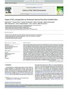 Impact of TiO2 nanoparticles on freshwater bacteria from three ...