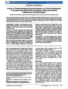 Impact of transesophageal echocardiography ... - Wiley Online Library
