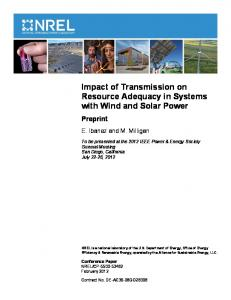 Impact of Transmission on Resource Adequacy in Systems with Wind ...