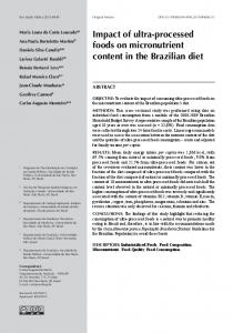 Impact of ultra-processed foods on micronutrient content in ... - SciELO