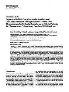 Impact on Medical Cost, Cumulative Survival, and Cost-Effectiveness