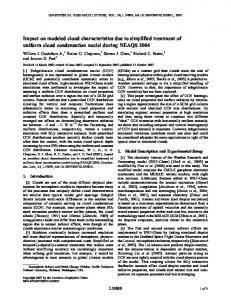 Impact on modeled cloud characteristics due to ... - Wiley Online Library