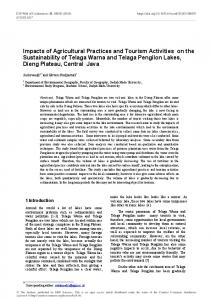 Impacts of Agricultural Practices and Tourism Activities on the