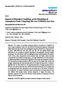 Impacts of Boundary Conditions on the Simulation ... - Semantic Scholar