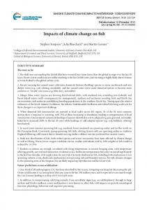 Impacts of climate change on fish