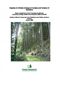 Impacts of climate change on forests in Scotland - Forestry Commission