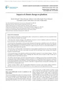 Impacts of climate change on plankton