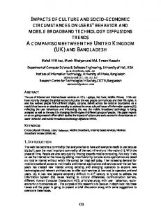 impacts of culture and socio-economic circumstances on users ... - arXiv