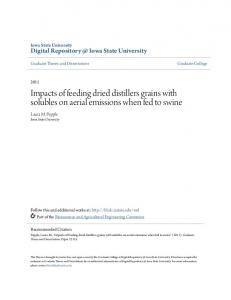Impacts of feeding dried distillers grains with solubles on aerial ...