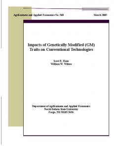Impacts of Genetically Modified (GM) Traits on ... - AgEcon Search