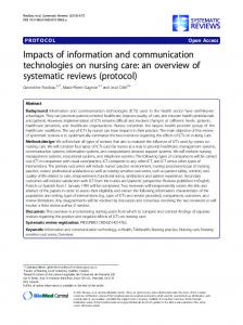 Impacts of information and communication technologies on nursing ...