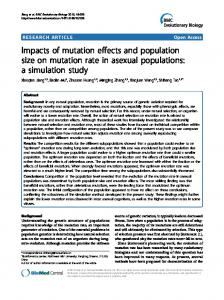 Impacts of mutation effects and population size on mutation rate in ...