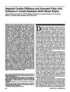 Impaired Cardiac Efficiency and Increased Fatty Acid ... - Diabetes