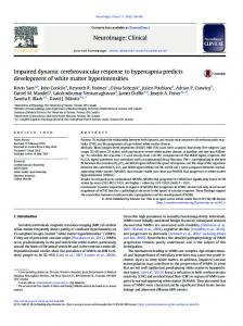 Impaired dynamic cerebrovascular response to hypercapnia ... - Core