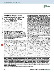 Impaired glycosylation and cutis laxa caused by mutations in the ...