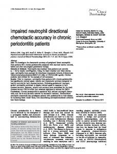 Impaired neutrophil directional chemotactic ... - Wiley Online Library