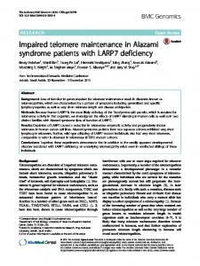 Impaired telomere maintenance in Alazami ... - BMC Genomics