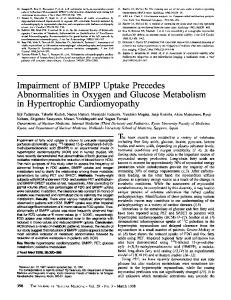 Impairment of BMIPP Uptake Precedes Abnormalities in Oxygen and ...