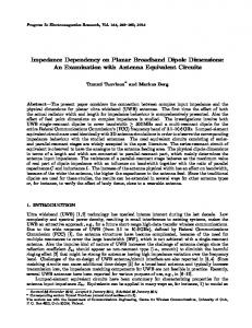 Impedance Dependency on Planar Broadband Dipole Dimensions: An ...