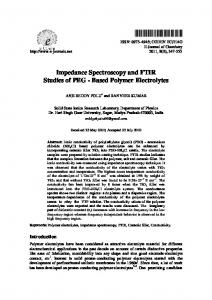 Impedance Spectroscopy and FTIR Studies of PEG