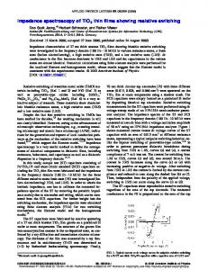 Impedance spectroscopy of TiO2 thin films showing resistive ... - JuSER