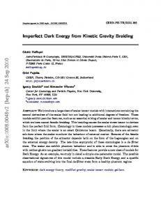Imperfect Dark Energy from Kinetic Gravity Braiding