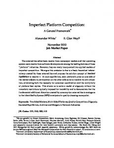 Imperfect Platform Competition
