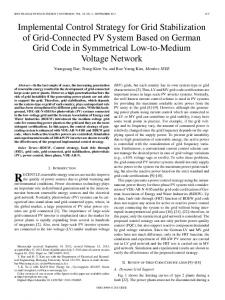 Implemental Control Strategy for Grid Stabilization of ... - IEEE Xplore