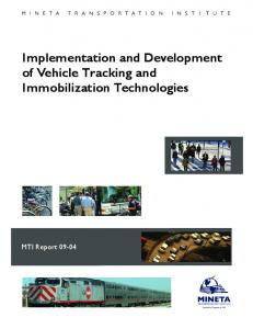 Implementation and Development of Vehicle Tracking - Mineta ...