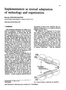 Implementation as mutual adaptation of te ology and ... - ScienceDirect